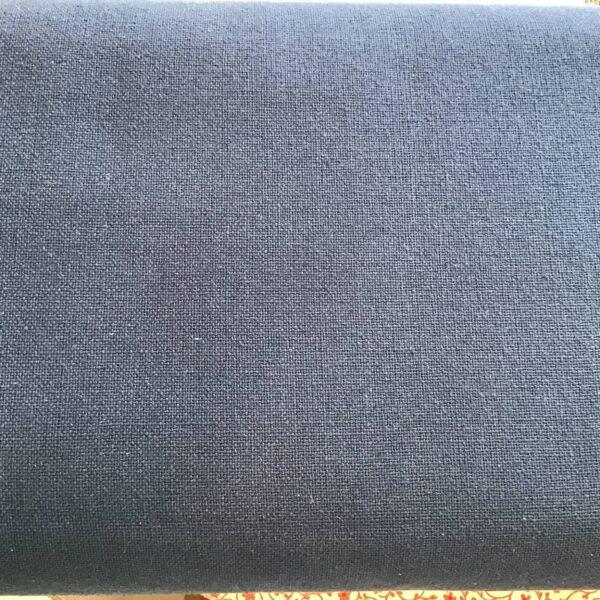 French Sashiko Prairie Cloth by French General Indigo Navy Blue