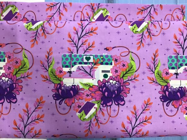 Pwtp140 Homemade pedal purple by Tula Pink fabric