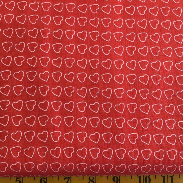 Nordic Christmas Hearts red FF194