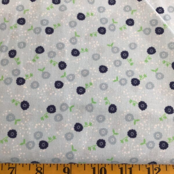 C6522 MIDNIGHT BLOOMS BY RILEY BLAKE Daisies scatter  blue