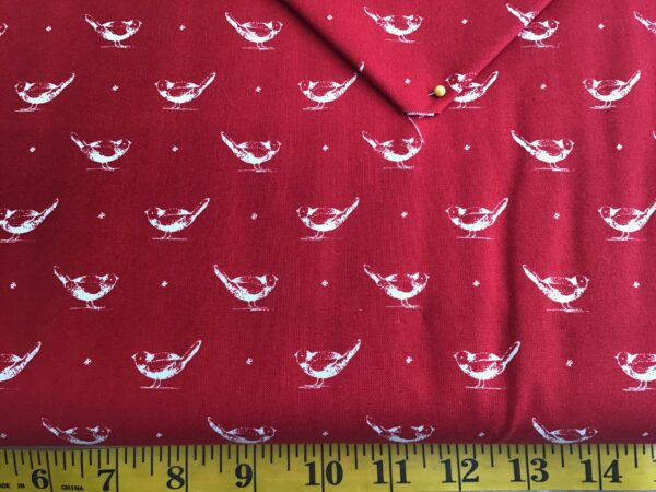Red work garden mrg295011 birds on red