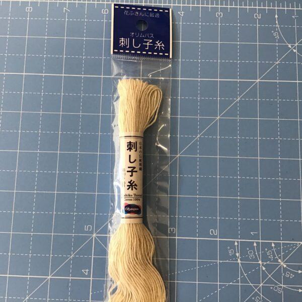 Olympus Sashiko thread 20m Cream/ivory