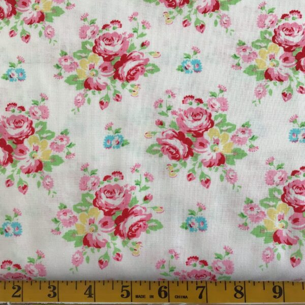 Janey white red floral