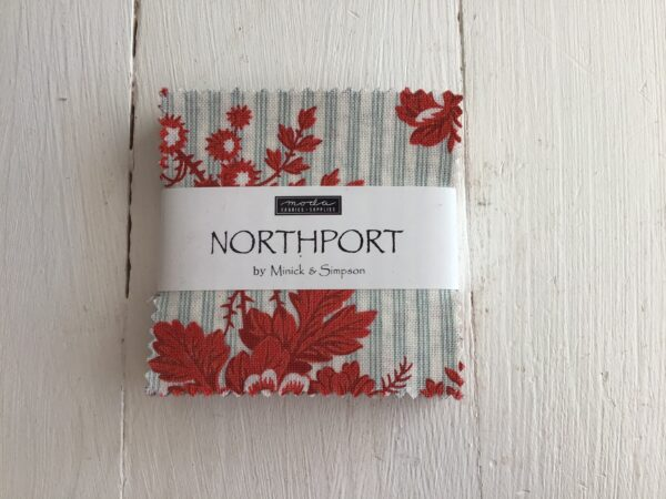 Northport by Minick & Simpson Mini charm red blue