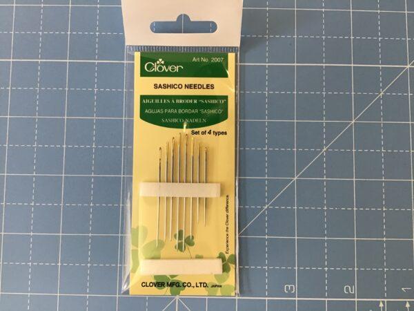 Clover Sashiko needles mixed
