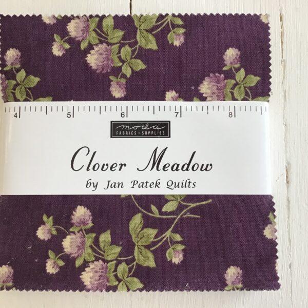 Moda Clover meadow by Jan Patel charm pack Purple Green
