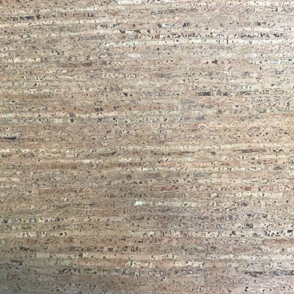 "Washable Cork fabric 54"" wide Brown beige stripe"
