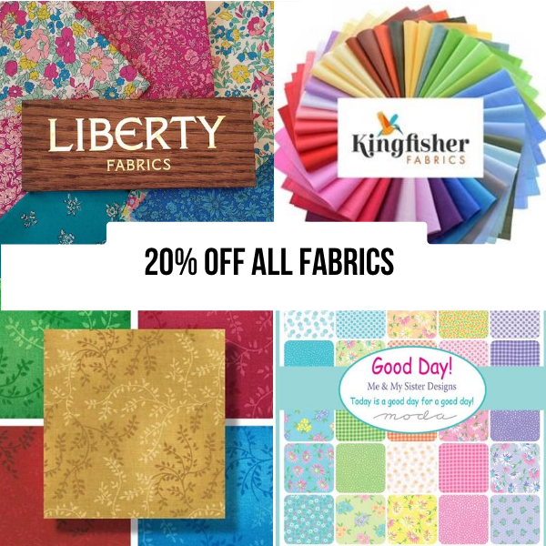 20% off all fabric online