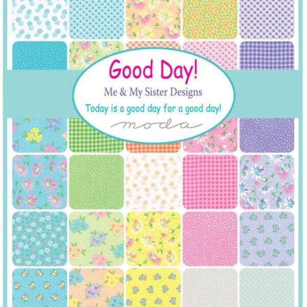 Good Day Little Birds 22374 by Me & My Sister Yellow, Pink, Green Blue by Moda