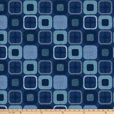 "Geo Square Dark Blue 108"" extra wide backing fabric"