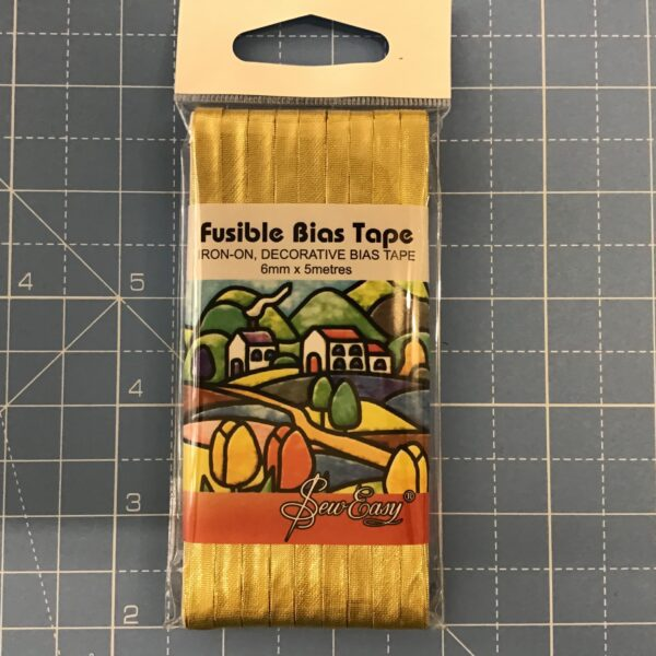 Fusible bias tape gold