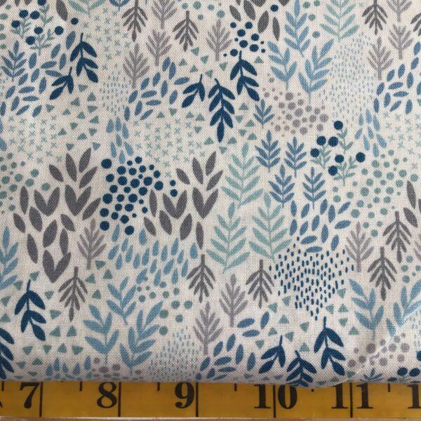 2063 woodland leaves blue Makower