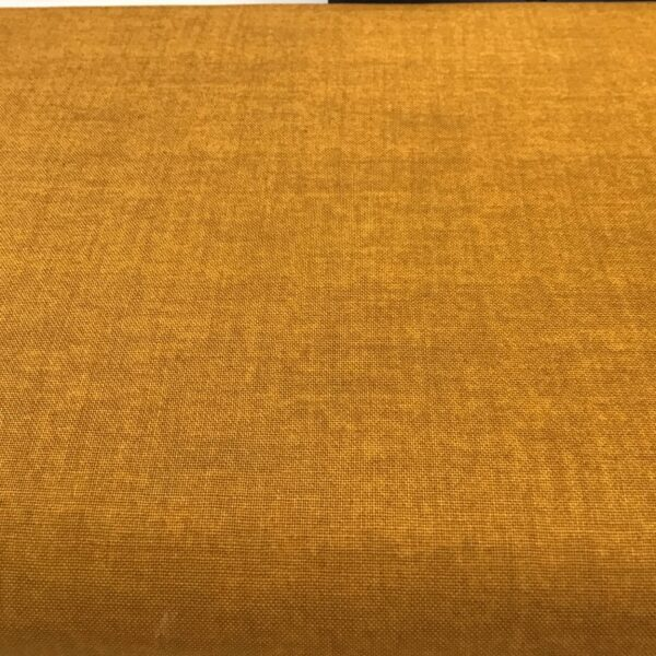 LinenTexture 1473Y7 Mustard Gold Makower Plain Blender fabric