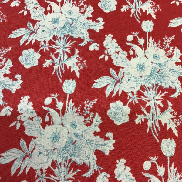Cottage Collection TD481626 Botanical Red by Tilda floral fabric