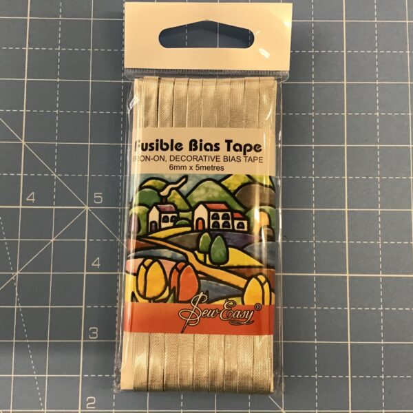 Fusible bias tape silver