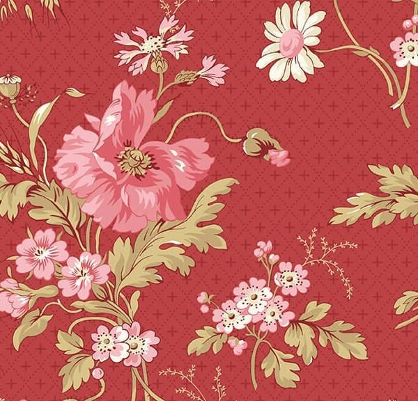 Sweet Sixteen 29577R Sweet Sixteen Red Floral by Edyta Sitar for Makower