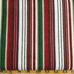BELIEVE IN THE SEASON Stripe by Clothworks Red Green Cream