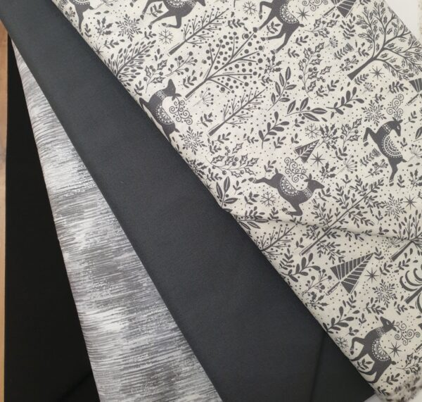 Cushion Fabric Kit - Christmas Scandi grey