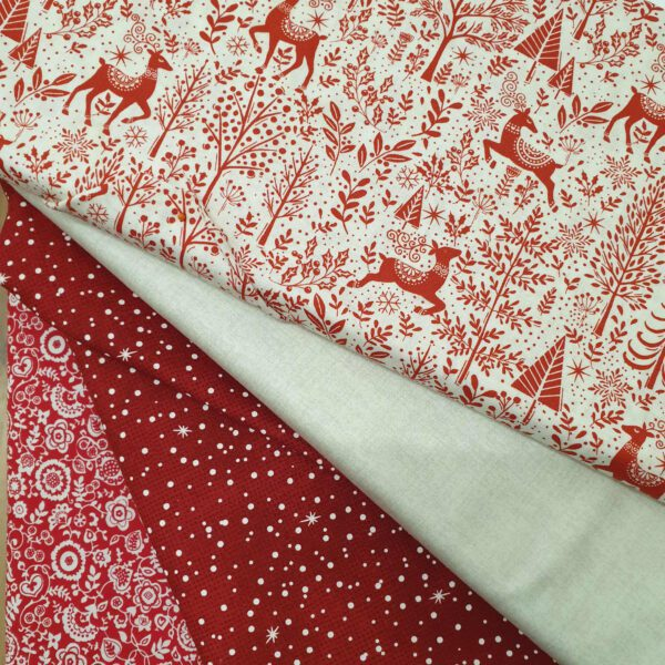 Cushion Fabric Kit - Christmas Scandi Red