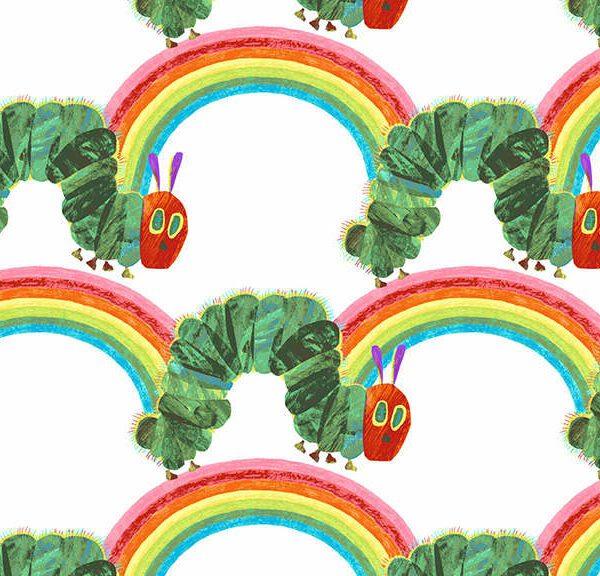 Hungry Caterpillar 29200L Rainbow small multi fabric by Makower