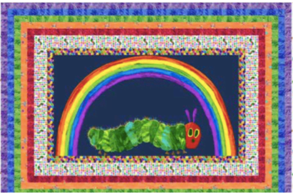 Hungry Caterpillar Let's Play Quilt Kit Navy Blue Multi by Makower