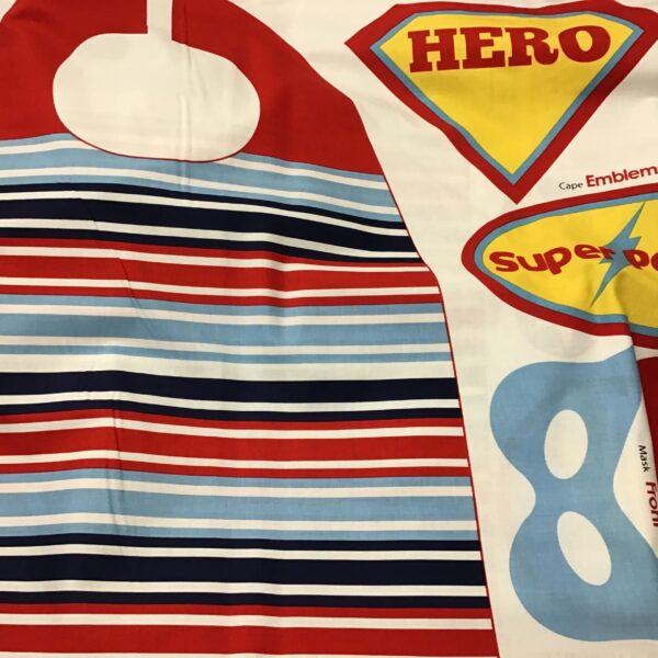 SUPER HERO CAPE 90cm panel with instructions