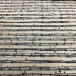 The Blues 1690013 Billie Sheet music navy on cream by Janet Clare fabrics