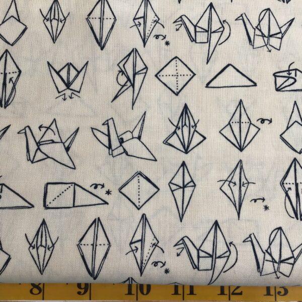 Mor147012 Origami by Janet Clare Cream Moda