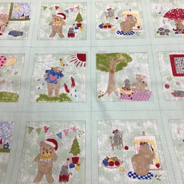 Toy Poodle TY033 A TEDDY FOR ALL OCCASIONS. 60cm repeat sold by the quarter metre