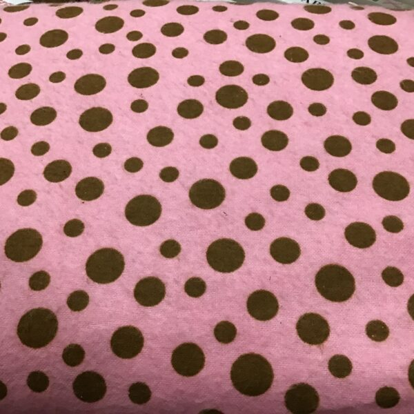 Pink Flannel with brown spot