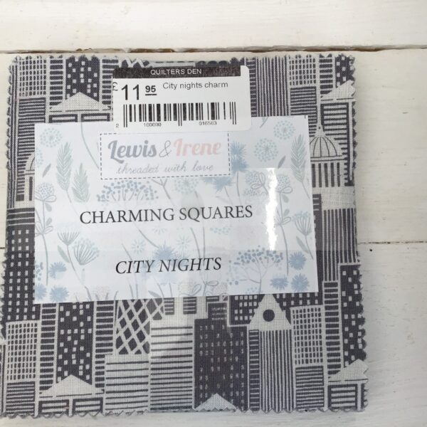 City nights charm by Lewis and Irene grey black multi