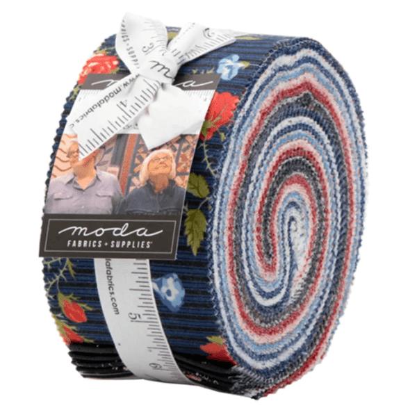 Harbor Springs 14900 Jelly Roll Red Cream Blue by Moda Fabrics