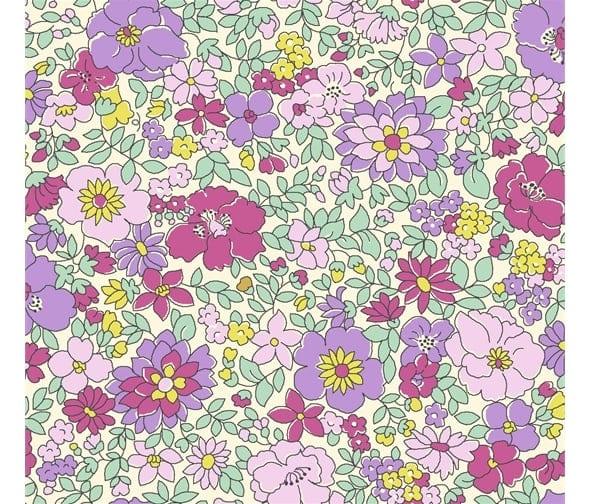 liberty flower show 25b arley gardens pink lilac purple fabric