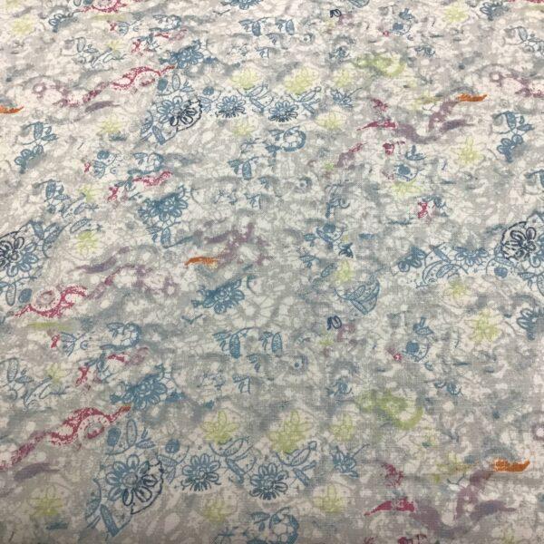 Groovy Girls Y2615 Blue Grey Daisy Blender by Clothworks fabric
