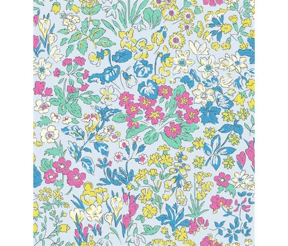 liberty flower show 20b wisley flowers pink green blue fabric