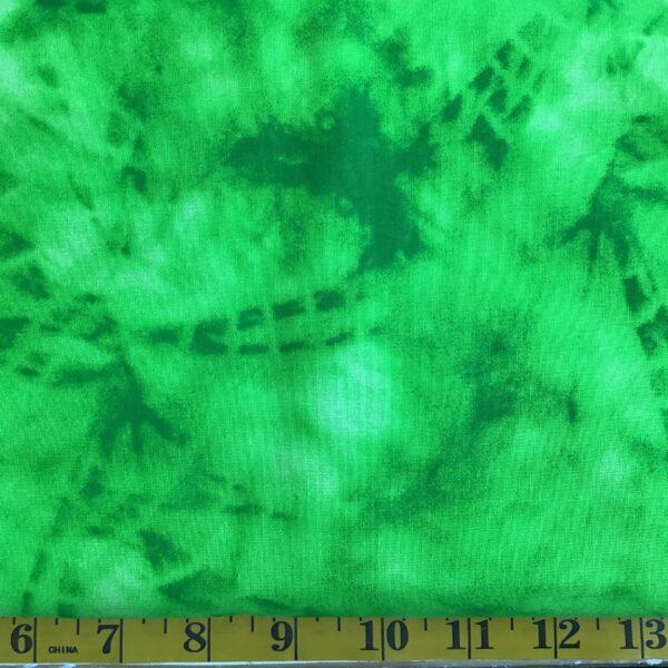 tie dye effect lime green