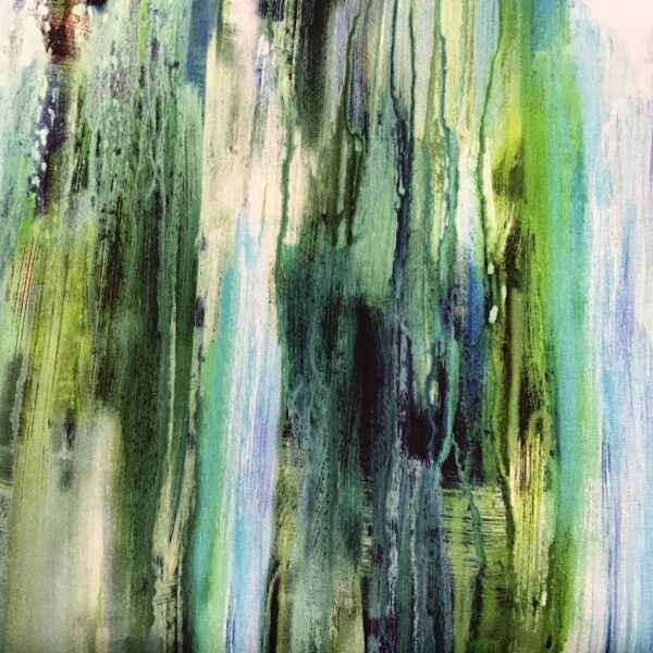 Enchanted seascape G100104 Green Aqua Blue by Flora Rowell by PB Textiles