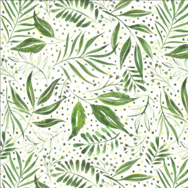 moody bloom 844511d jungle leaves green on white by create joy for moda fabrics