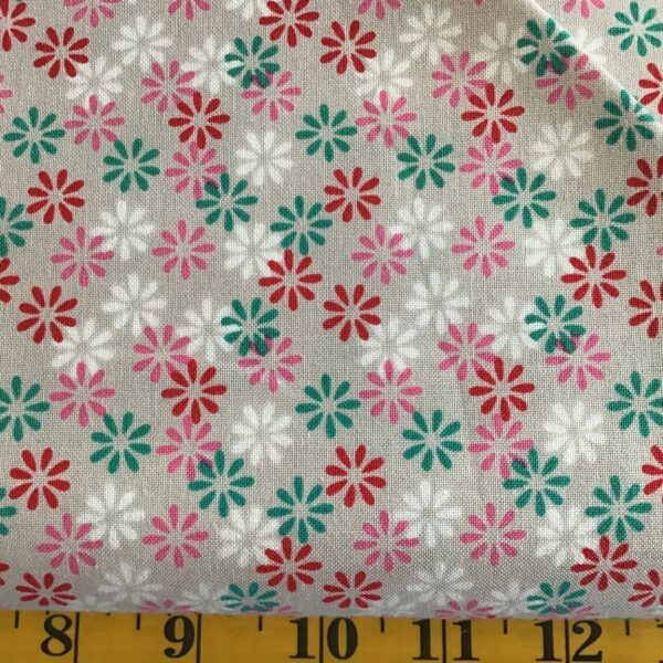 1648 sweet & sassy daisies multi on grey