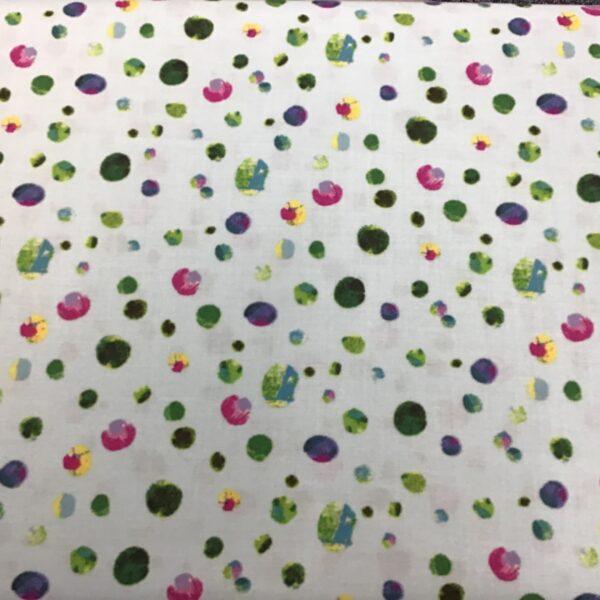 Spots Y2811 Multi on Aqua by Clothworks fabrics