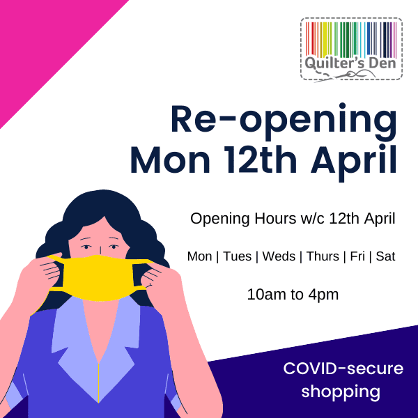 We re-opening the shop on Monday 12th April!