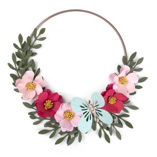 Sizzix Butterfly Flower Wreath 662442 Bigz Die