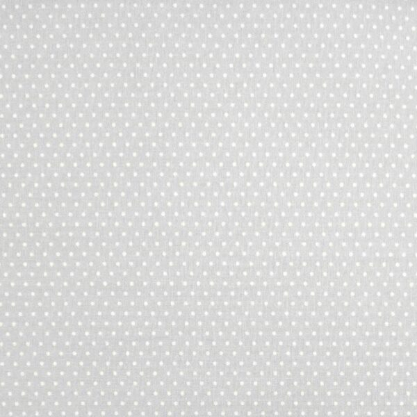 Dot FF356 White spot on Silver grey fabric