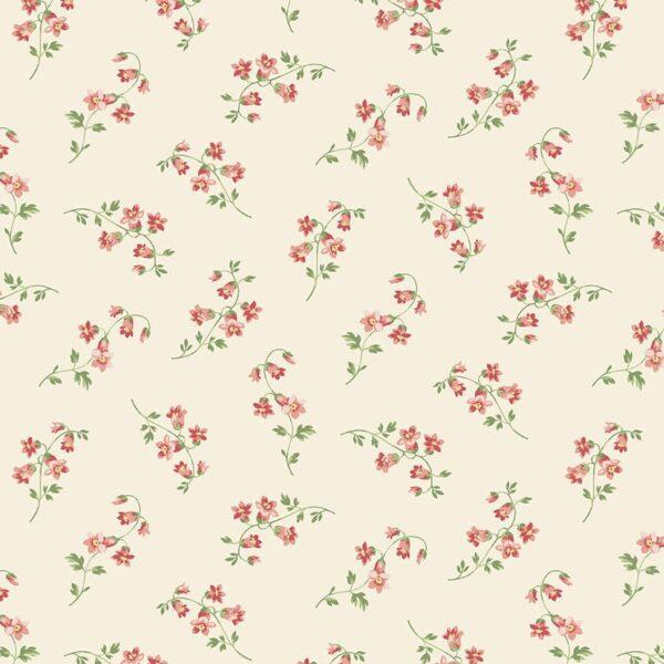 """Seamstress 9769L Cream Pink """"Silk"""" Cotton fabric by Edyta Sitar"""