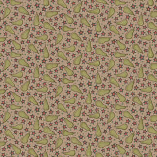 Anni Downs 249034 Pears on Dark Cream fabric – On the 12th Day