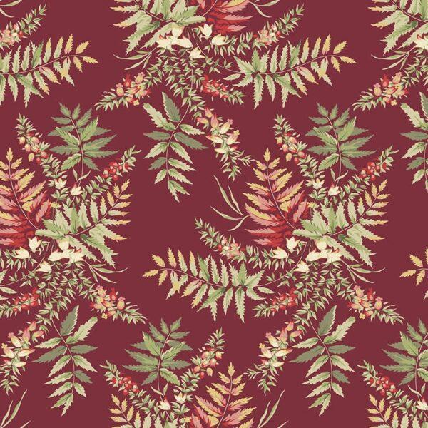 Seamstress 9768R Red Fern fabric. by Edyta Sitar
