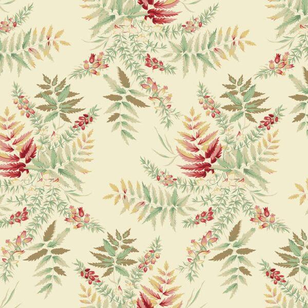 Seamstress 9768L Cream Fern fabric by Edyta Sitar