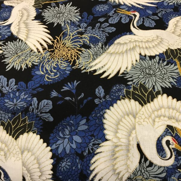 """Cranes PO2692 Navy blue floral fabric. 54""""wide"""