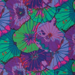 "Kaffe Fassett QBGP007 108"" wide Purple  Lotus Leaf Quilt backing"