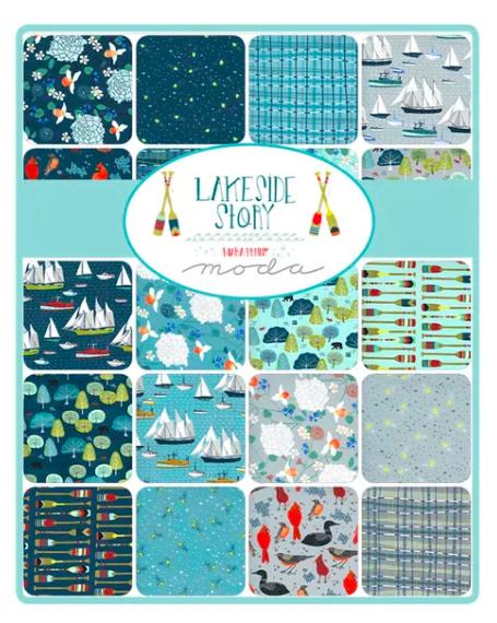 Lakeside Story 13350LC Blue Multi Layer Cake by Moda fabrics